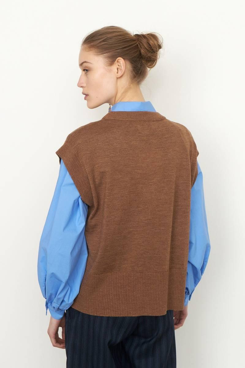 SECOND FEMALE - Audre Knit Vest Dessert Palm