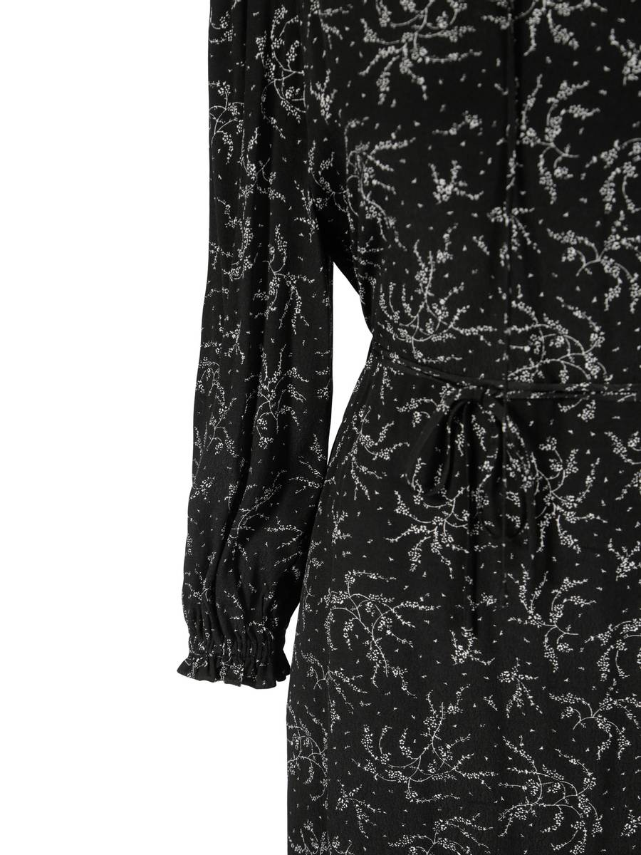 RICCOVERO - Dakota Dress Black White Flowers